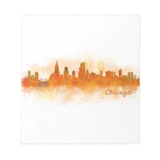 Chicago Illinois City Skyline v03 Notepad