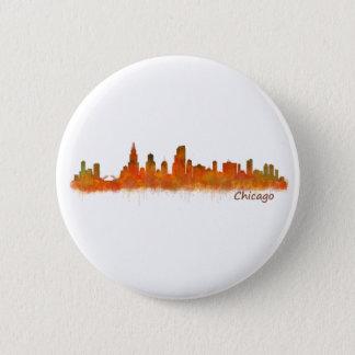 Chicago Illinois Cityscape Skyline 6 Cm Round Badge