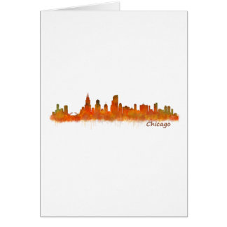 Chicago Illinois Cityscape Skyline Card