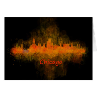 Chicago Illinois Cityscape Skyline Dark Card