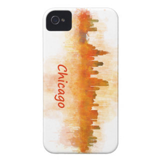 Chicago Illinois Cityscape Skyline Dark Case-Mate iPhone 4 Cases