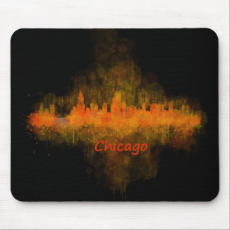 Chicago Illinois Cityscape Skyline Dark Mouse Pad