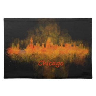 Chicago Illinois Cityscape Skyline Dark Placemat
