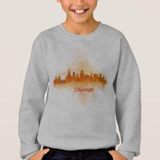 Chicago Illinois Cityscape Skyline Dark Sweatshirt
