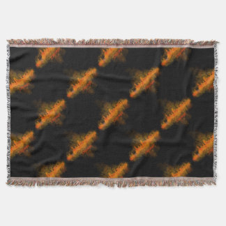 Chicago Illinois Cityscape Skyline Dark Throw Blanket