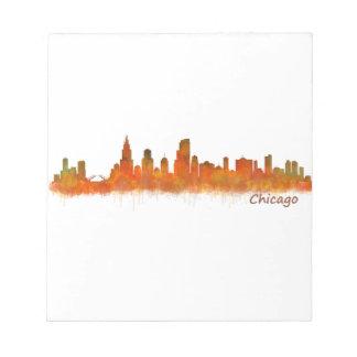 Chicago Illinois Cityscape Skyline Notepad