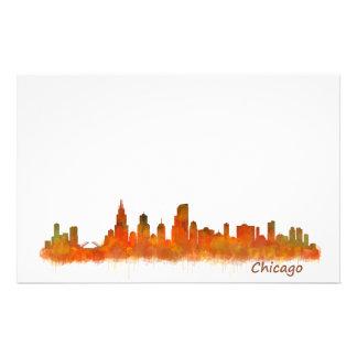Chicago Illinois Cityscape Skyline Stationery