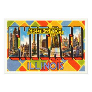 Chicago Illinois IL Old Vintage Travel Souvenir Photographic Print