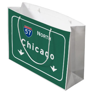 Chicago Illinois Interstate Highway Freeway Road : Large Gift Bag