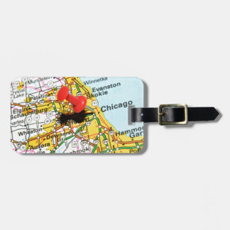 Chicago, Illinois Luggage Tag