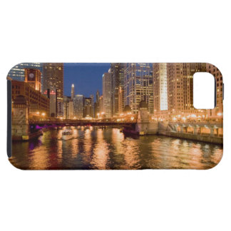 Chicago, Illinois, Skyline and Chicago River at 2 iPhone 5 Covers