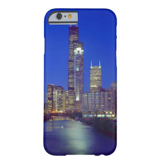 Chicago, Illinois, Skyline at night with Chicago Barely There iPhone 6 Case