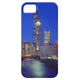 Chicago, Illinois, Skyline at night with Chicago iPhone 5 Case