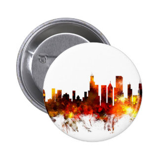 Chicago Illinois Skyline Pinback Buttons