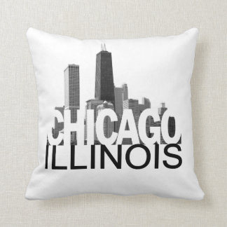 Chicago Illinois Skyline Cushion