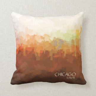 Chicago, Illinois Skyline-In the Clouds Cushion