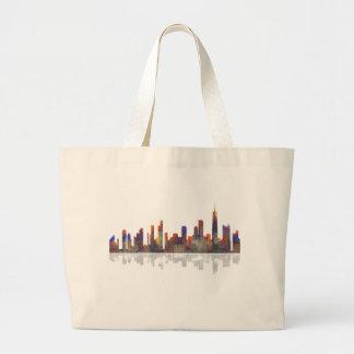 Chicago Illinois Skyline Jumbo Tote Bag