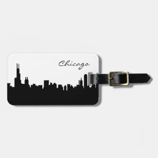 Chicago Illinois Skyline Luggage Tag