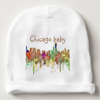 Chicago, Illinois Skyline SG Faded Glory Baby Beanie