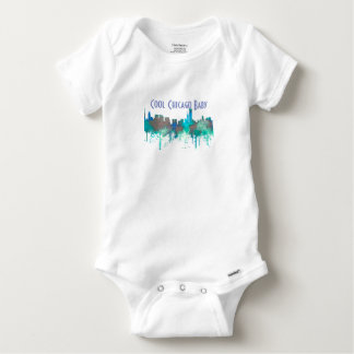 Chicago Illinois Skyline-SG-Jungle Baby Onesie