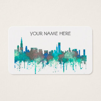 Chicago Illinois Skyline-SG-Jungle Business Card