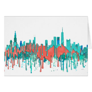 Chicago Illinois Skyline-SG-Jungle Card