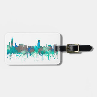 Chicago Illinois Skyline-SG-Jungle Luggage Tag