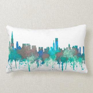 Chicago Illinois Skyline-SG-Jungle Lumbar Cushion