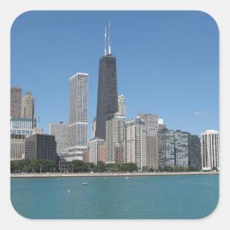 Chicago, Illinois Square Sticker