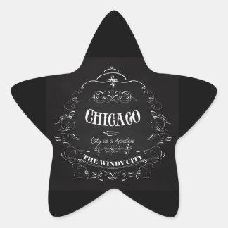Chicago Illinois - The Wind City Star Sticker