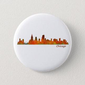 Chicago Illinois U.S. City skyline v01 6 Cm Round Badge