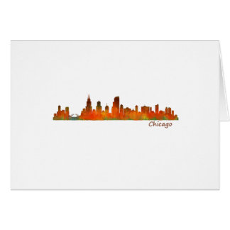 Chicago Illinois U.S. City skyline v01 Card