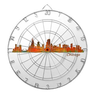 Chicago Illinois U.S. City skyline v01 Dartboard