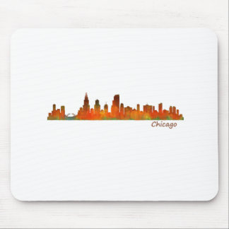 Chicago Illinois U.S. City skyline v01 Mouse Pad