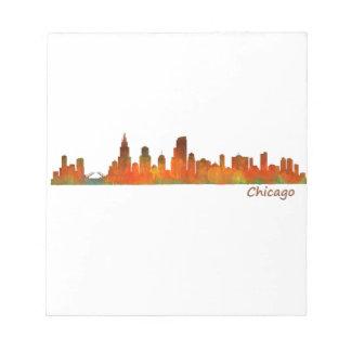 Chicago Illinois U.S. City skyline v01 Notepad