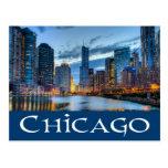 Chicago Illinois USA - Chicago Skyline At Sunset Postcard