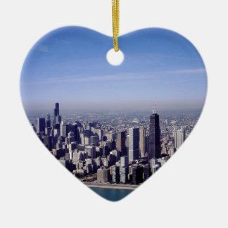 Chicago Illinois Windy City Park Buildings Destiny Ceramic Ornament