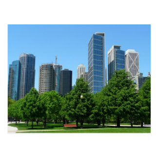 Chicago Illinois Windy City Park Buildings Destiny Postcard