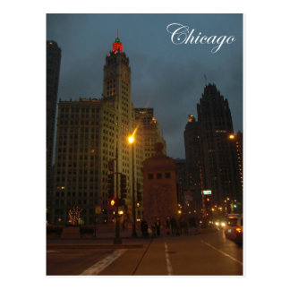 Chicago in December Postcard