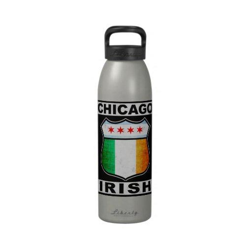Chicago Irish American Water Bottle
