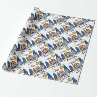 Chicago Kids Dark Wrapping Paper