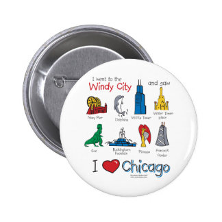 Chicago--kids-Icons-NEW-[Co 6 Cm Round Badge