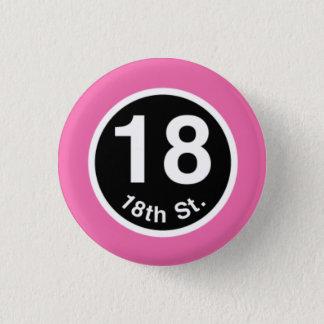 Chicago L 18th St. Pink Line 3 Cm Round Badge