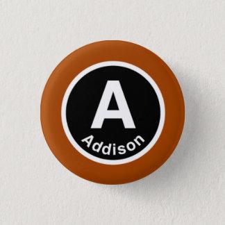 Chicago L Addison Brown Line 3 Cm Round Badge
