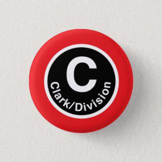 Chicago L Clark/Division Red Line 3 Cm Round Badge