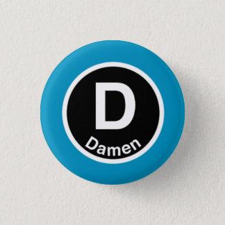 Chicago L Damen Blue Line 3 Cm Round Badge
