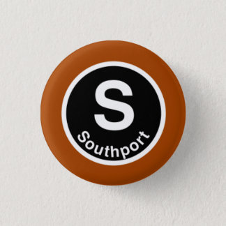 Chicago L Southport Brown Line 3 Cm Round Badge