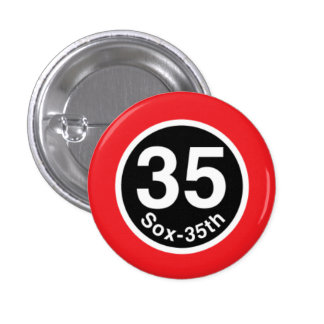 Chicago L Sox-35th Red Line 3 Cm Round Badge