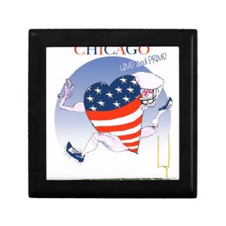 Chicago Loud and Proud, tony fernandes Small Square Gift Box