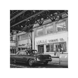 Chicago May 7 1967 Wabash St. Altman Camera Car 2 Canvas Print
